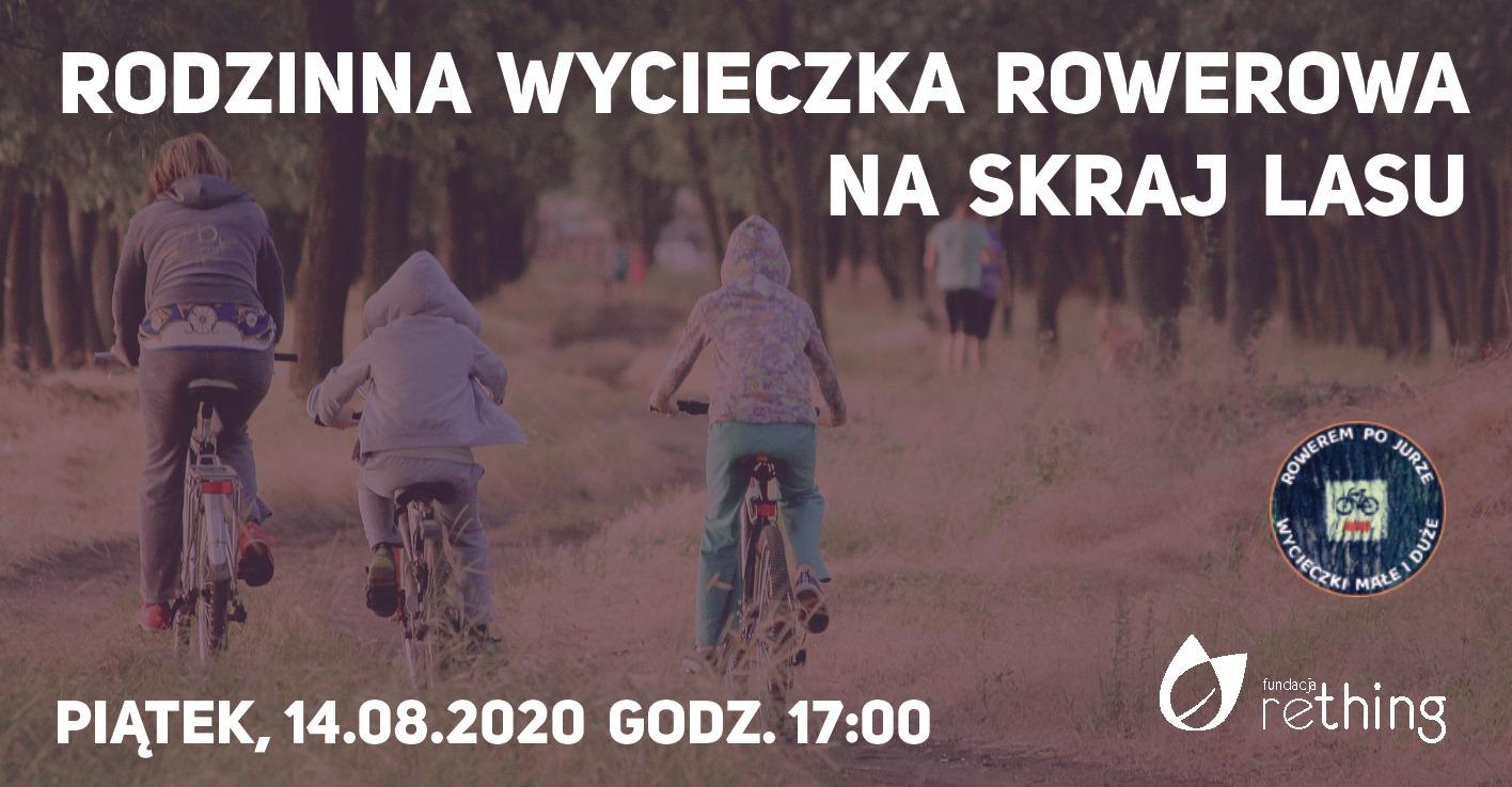 Rodzinna wycieczka rowerowa na skraj lasu